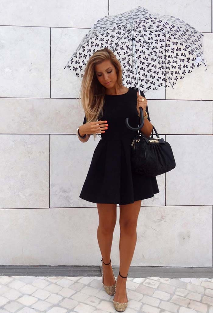 3 διαφορετικοί τρόποι για να φορέσετε μαύρο φόρεμα, τζην ή σορτς (2)
