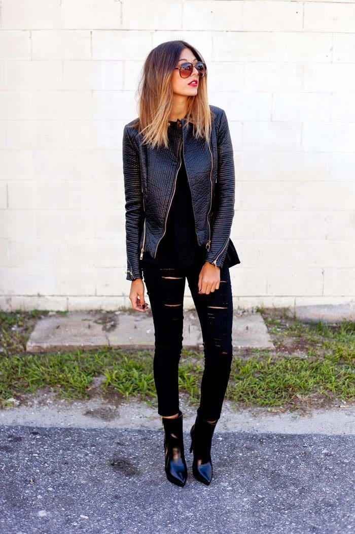 3 διαφορετικοί τρόποι για να φορέσετε μαύρο φόρεμα, τζην ή σορτς (5)