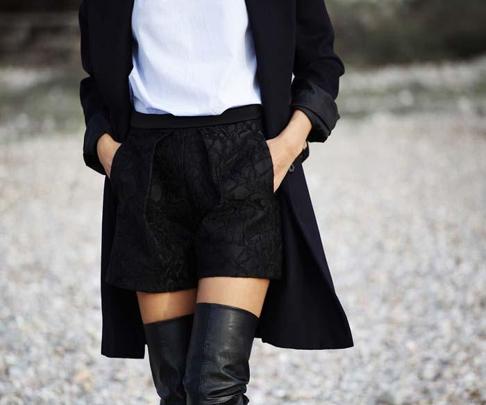 3 διαφορετικοί τρόποι για να φορέσετε μαύρο φόρεμα, τζην ή σορτς (10)
