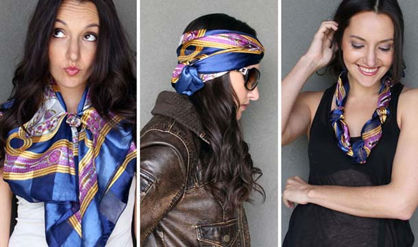 15 τρόποι να φορέσεις ένα φουλάρι - μαντήλι (1)