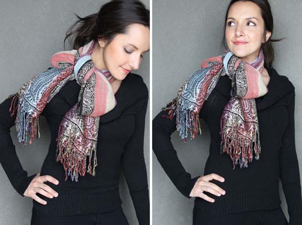 15 τρόποι να φορέσεις ένα φουλάρι - μαντήλι (5)