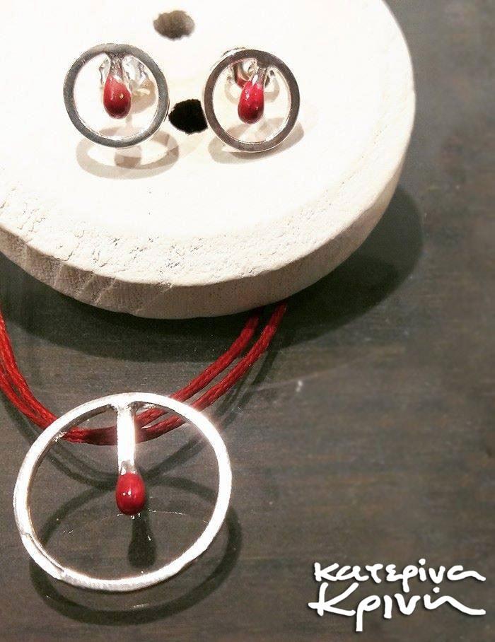 Χριστουγεννιάτικος διαγωνισμός με δώρο ένα σετ χειροποίητο μενταγιόν και σκουλαρίκια από ασήμι