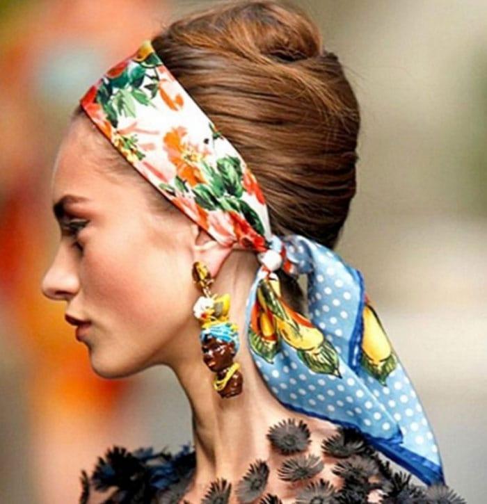 Εκπληκτικοί τρόποι για να δέσετε ένα μαντήλι στα μαλλιά (4)