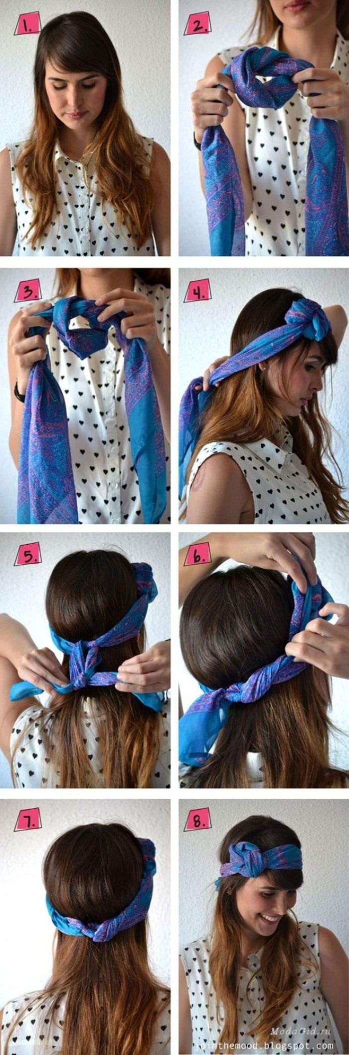 Εκπληκτικοί τρόποι για να δέσετε ένα μαντήλι στα μαλλιά (9)