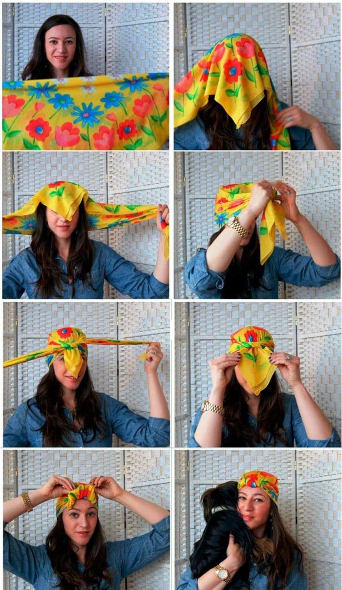 Εκπληκτικοί τρόποι για να δέσετε ένα μαντήλι στα μαλλιά (11)