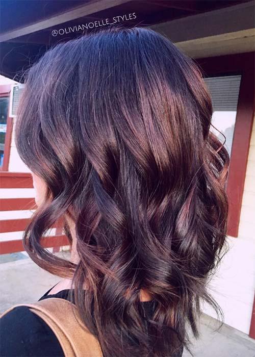 Ιδέες για μωβ σοκολατί αποχρώσεις στα μαλλιά (9)