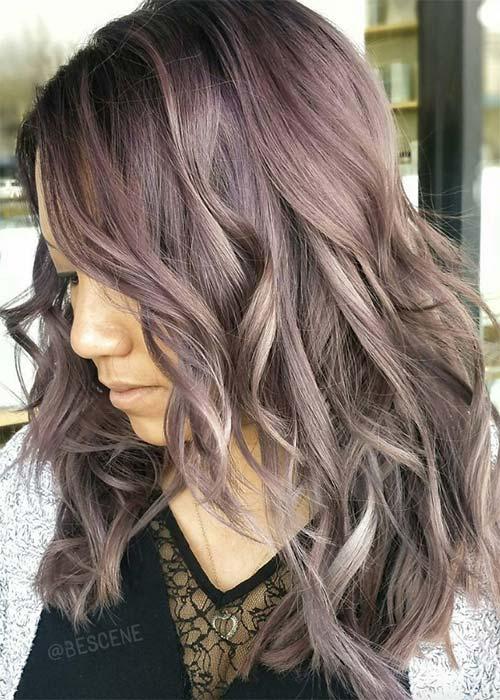 Ιδέες για μωβ σοκολατί αποχρώσεις στα μαλλιά (15)