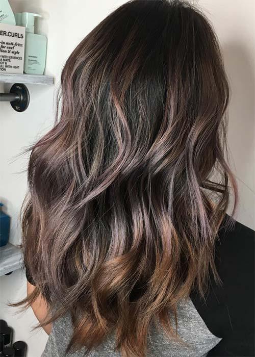 Ιδέες για μωβ σοκολατί αποχρώσεις στα μαλλιά (18)