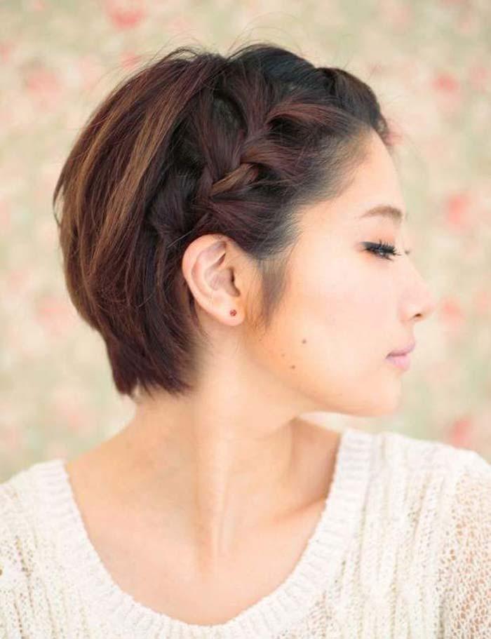Χτενίσματα με πλεξούδες για κοντά μαλλιά (6)