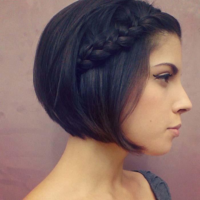 Χτενίσματα με πλεξούδες για κοντά μαλλιά (7)