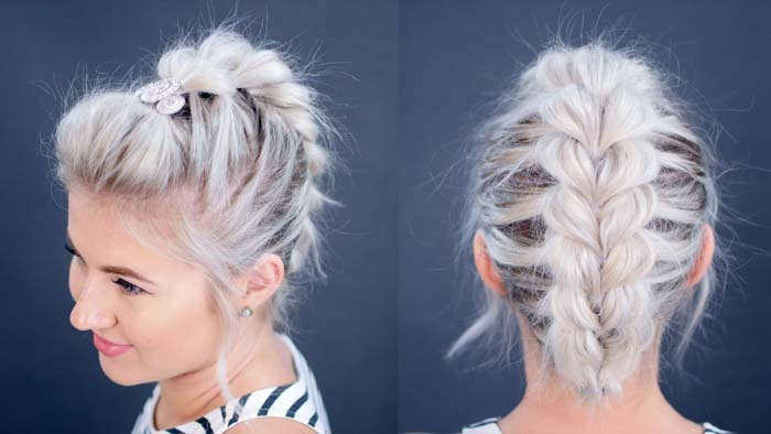Χτενίσματα με πλεξούδες για κοντά μαλλιά (8)