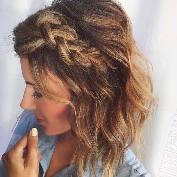 Χτενίσματα με πλεξούδες για κοντά μαλλιά (10)