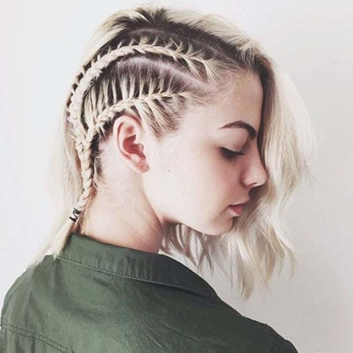 Χτενίσματα με πλεξούδες για κοντά μαλλιά (12)