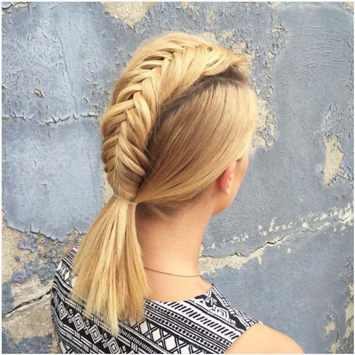Χτενίσματα με πλεξούδες για κοντά μαλλιά (13)