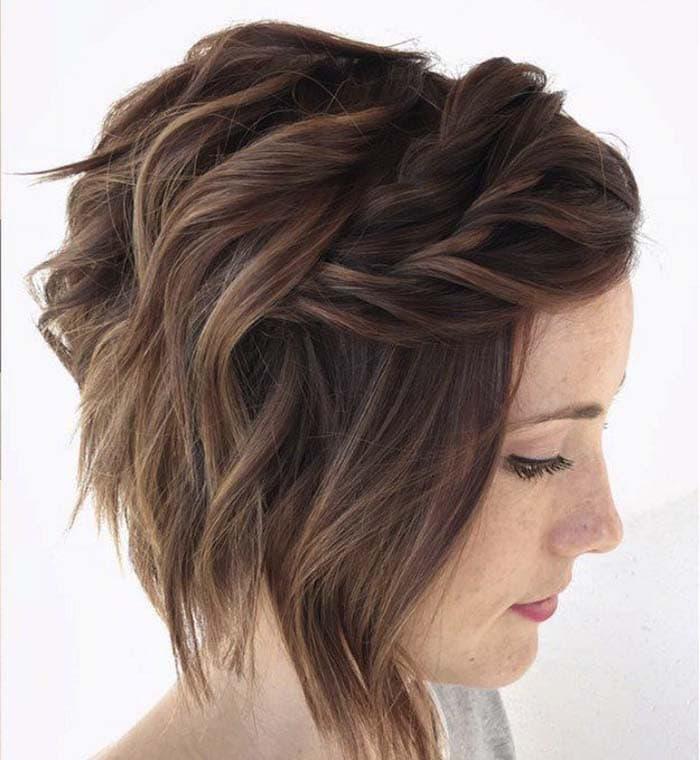 Χτενίσματα με πλεξούδες για κοντά μαλλιά (19)