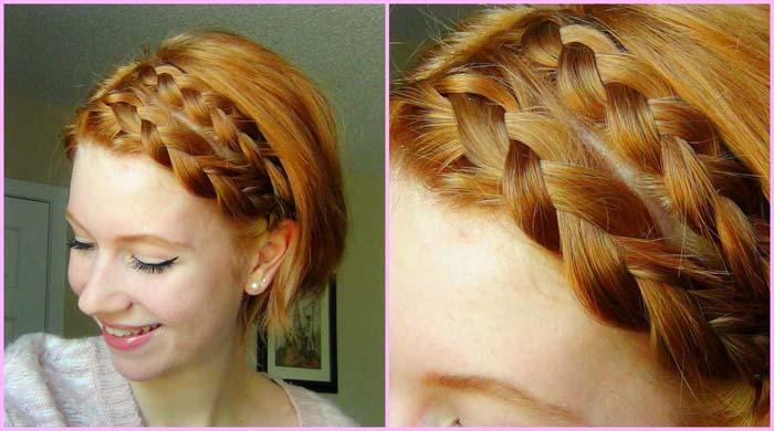 Χτενίσματα με πλεξούδες για κοντά μαλλιά (29)