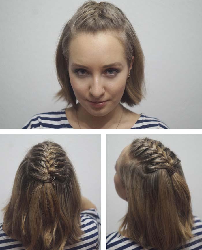 Χτενίσματα με πλεξούδες για κοντά μαλλιά (35)