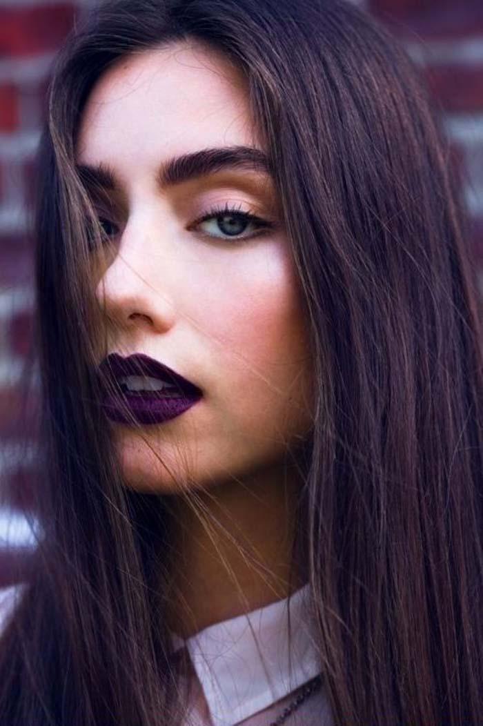 Μακιγιάζ με μωβ χείλη (13)