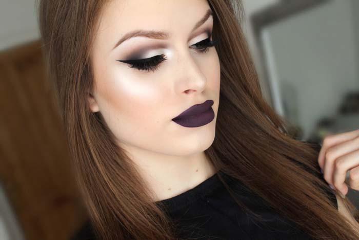 Μακιγιάζ με μωβ χείλη (14)