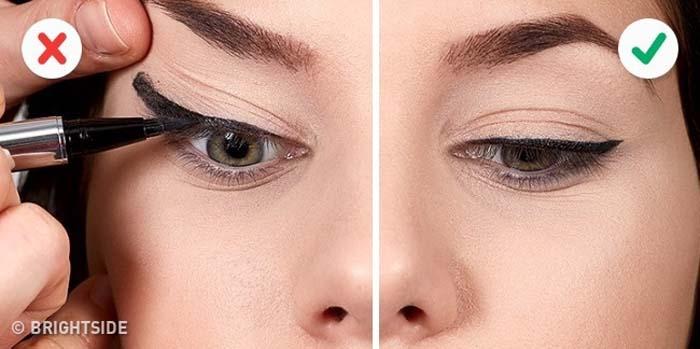 10 λάθη που καταστρέφουν τo Winged Eyeliner (9)