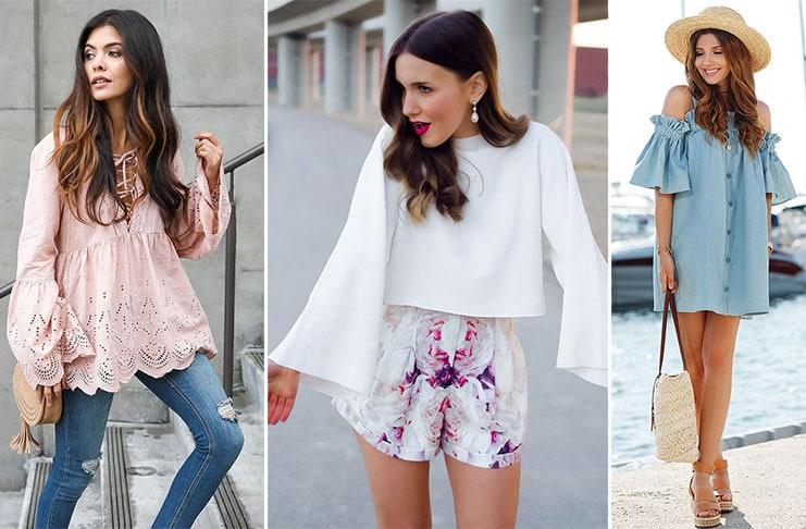 20 ιδέες για να φορέσετε μανίκια καμπάνα  Κορυφαία τάση της Άνοιξης eebd677893b