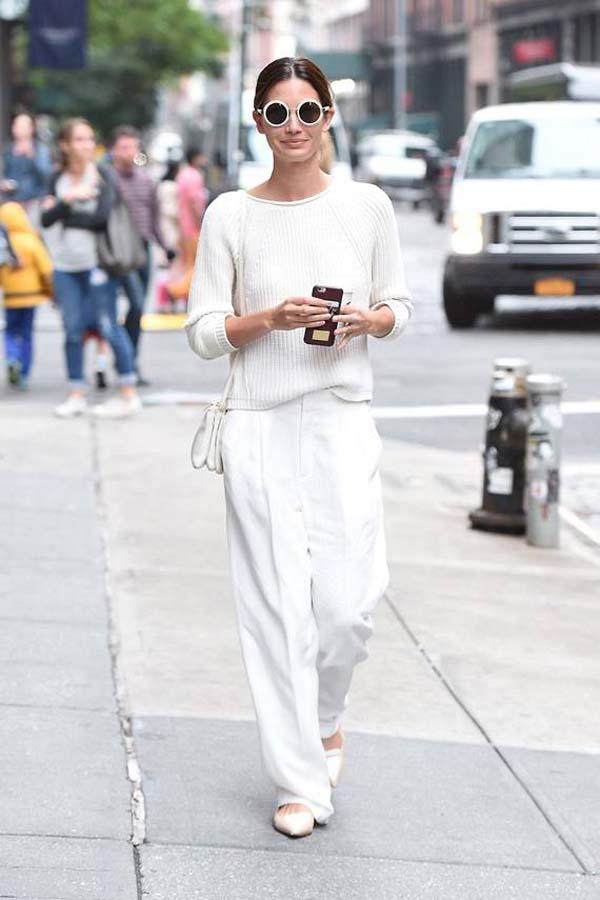 Total white looks: 15+1 υπέροχα σύνολα για εντυπωσιακές εμφανίσεις (9)