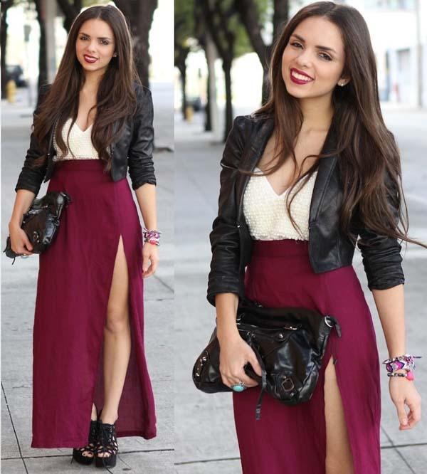 Σύνολα με μακριά φούστα και σκίσιμο (2)