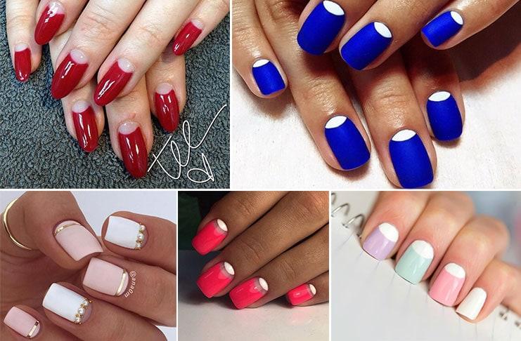 Half moon nails: Το ανάποδο γαλλικό μανικιούρ (1)