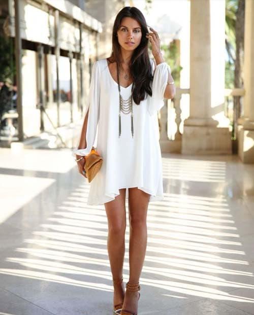 ... ώρες και σε όλες τις περιστάσεις. Με εξαίρεση βέβαια την περίπτωση που  είστε καλεσμένη σε έναν γάμο. Σε αυτή την περίσταση το λευκό φόρεμα είναι  ... 744bb9a8d22