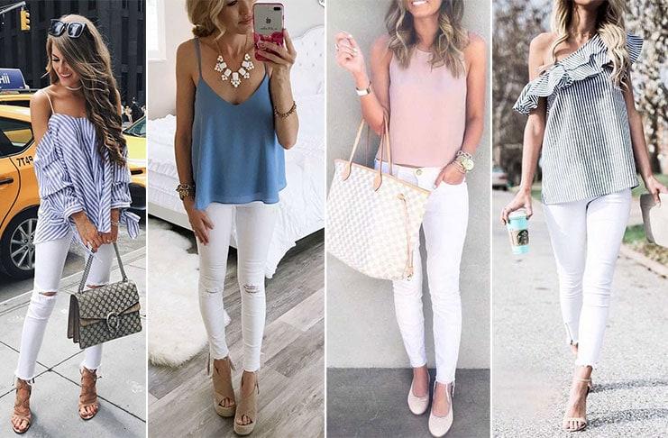 Σύνολα με λευκό παντελόνι (1)