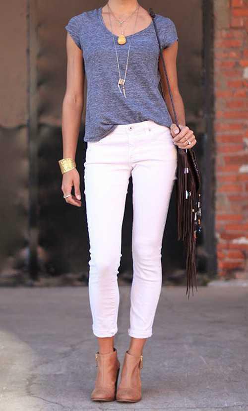 Σύνολα με λευκό παντελόνι (2)