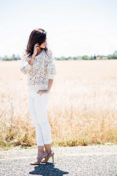 Σύνολα με λευκό παντελόνι (3)