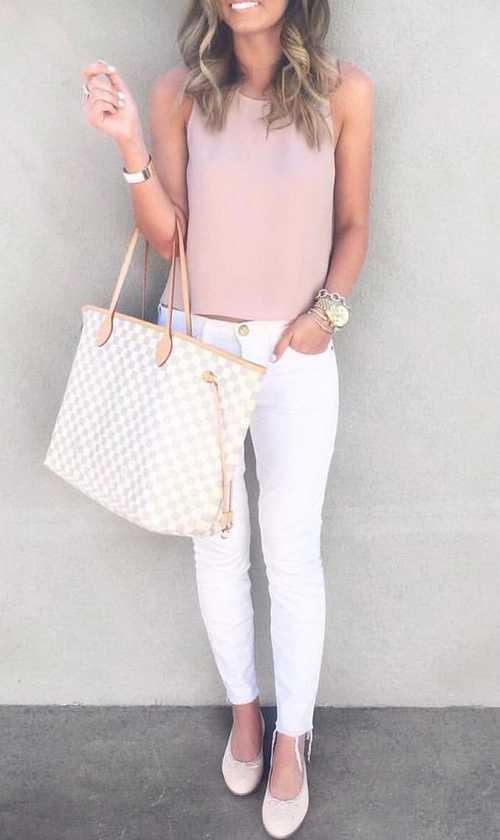 Σύνολα με λευκό παντελόνι (4)