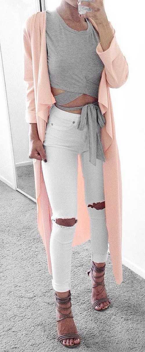 Σύνολα με λευκό παντελόνι (5)