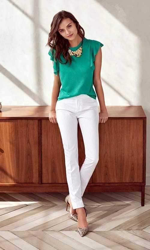 Σύνολα με λευκό παντελόνι (8)
