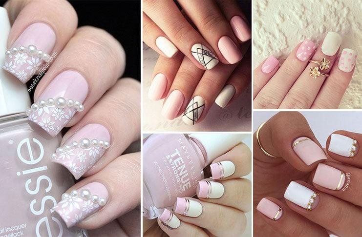 Άσπρα - ροζ νύχια (1)