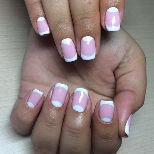 Άσπρα - ροζ νύχια (2)