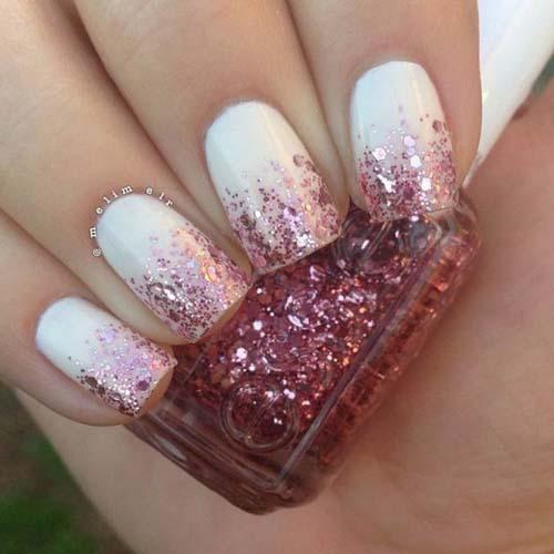 Άσπρα - ροζ νύχια (3)