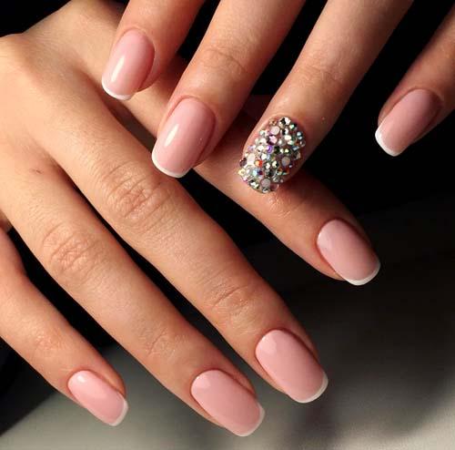 Άσπρα - ροζ νύχια (4)