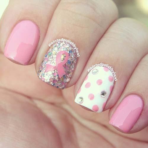 Άσπρα - ροζ νύχια (6)