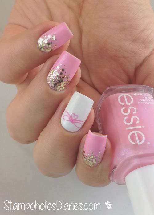 Άσπρα - ροζ νύχια (7)