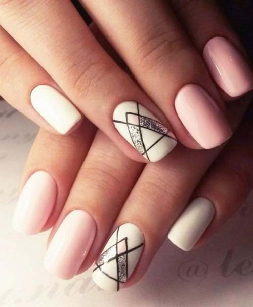 Άσπρα - ροζ νύχια (8)