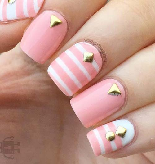 Άσπρα - ροζ νύχια (9)