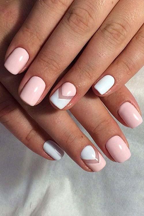 Άσπρα - ροζ νύχια (10)