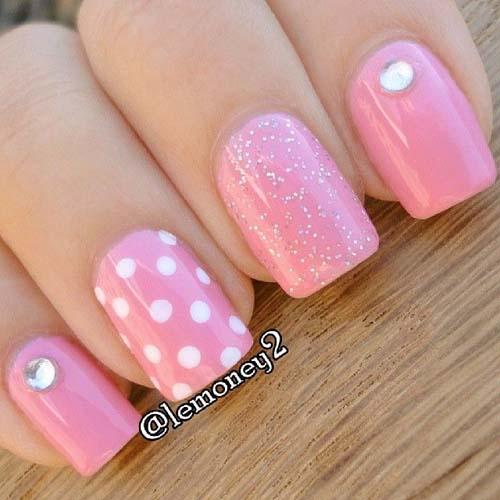 Άσπρα - ροζ νύχια (11)