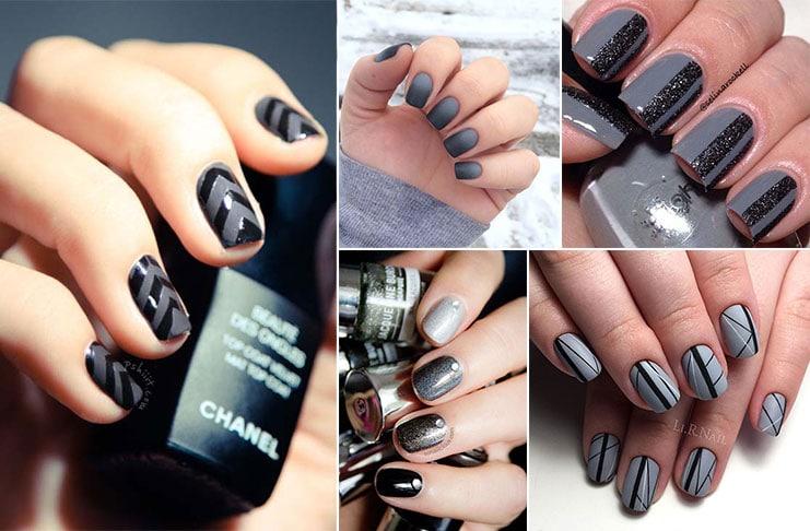 Μαύρα - γκρι νύχια (1)