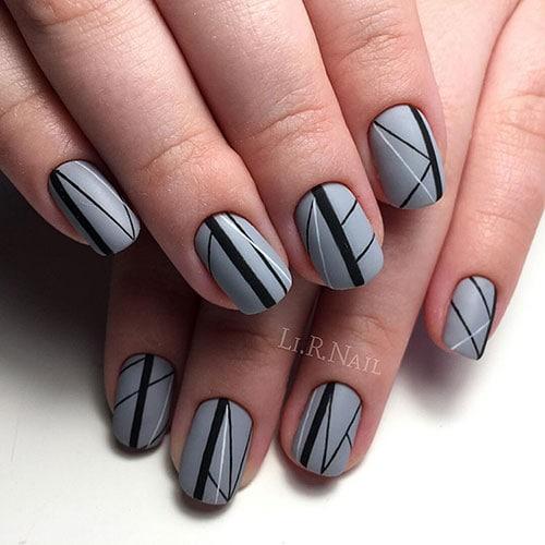 Μαύρα - γκρι νύχια (3)