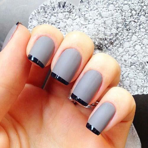 Μαύρα - γκρι νύχια (4)