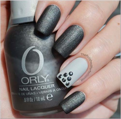 Μαύρα - γκρι νύχια (5)