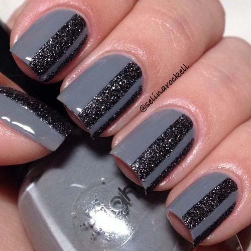Μαύρα - γκρι νύχια (8)